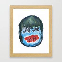 blue mask - voodoo style Framed Art Print