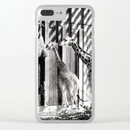 Three giraffes Clear iPhone Case