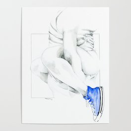 NUDEGRAFIA - 56  the girl with blue tennis shoes Poster