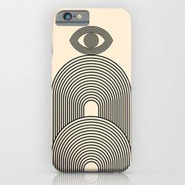 Abstraction_EYE_POP_ART_LINE_Minimalism_029AA iPhone Case