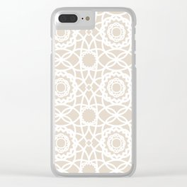 Palm Springs Macrame Lattice Lace Clear iPhone Case