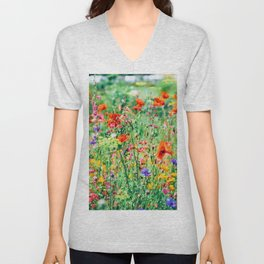 The Wild Flowers (Color) Unisex V-Neck