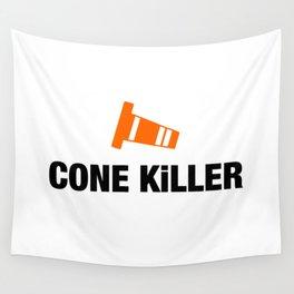 Cone Killer v4 HQvector Wall Tapestry