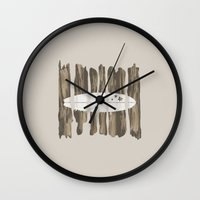 surfboard Wall Clocks featuring Surfboard by Alyn Spiller