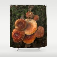 coven Shower Curtains featuring The poisoned beauty by VanessaValkyria