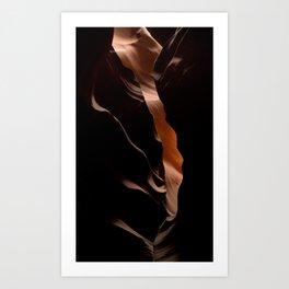 Antelope Canyon Cave - Abstract  Art Print