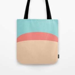 Teal, Peach and Coral Tote Bag