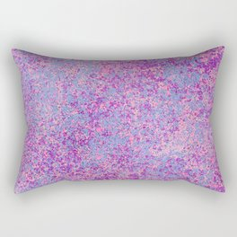 Modern abstract pink purple teal watercolor splatters Rectangular Pillow