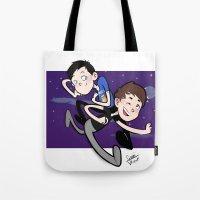 phil jones Tote Bags featuring Dan & Phil by gabitozati