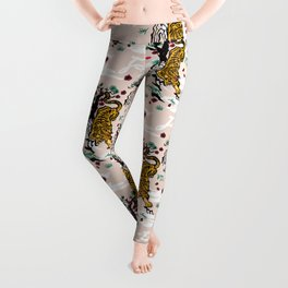 Tiger and Pug Japanese style Leggings
