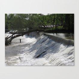 Fishing at the Dam Canvas Print