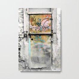One Door at Plaka-Athens Metal Print