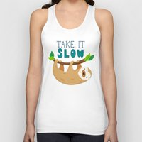sloth Tank Tops featuring Sloth by Claire Lordon