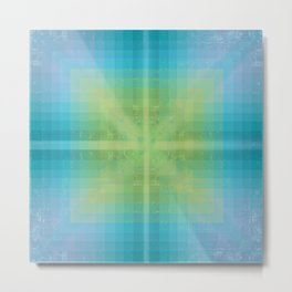 Aquamarine and Peridot Metal Print