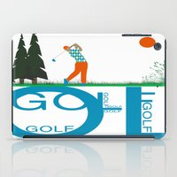 golf iPad Cases featuring Golf, golf, golf! by South43