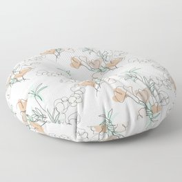 Bamboo, Ginkgo and Cotton Floor Pillow