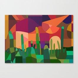Botanical Wonderland - Cactus Garden Bybrije Canvas Print