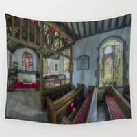 angels Wall Tapestries featuring Angels Love by Ian Mitchell