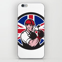 British Handyman Union Jack Flag Icon iPhone Skin