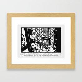 Sylvia Silence, the girl detective Framed Art Print