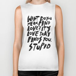 GO FIND LOVE Biker Tank