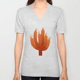 Brown Cactus - Warm Fource #cactuslover Unisex V-Neck