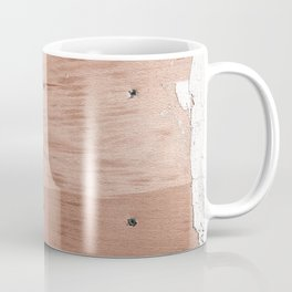 Plywood shipboard with nails and screws Coffee Mug