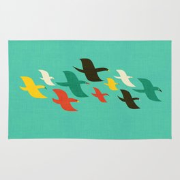 Birds are flying Rug