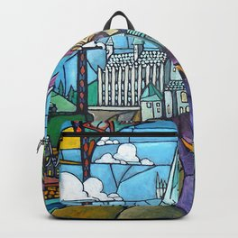 Hogwarts stained glass style Backpack