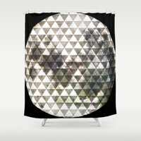 lunar Shower Curtains featuring Lunar. by Tyler Rice