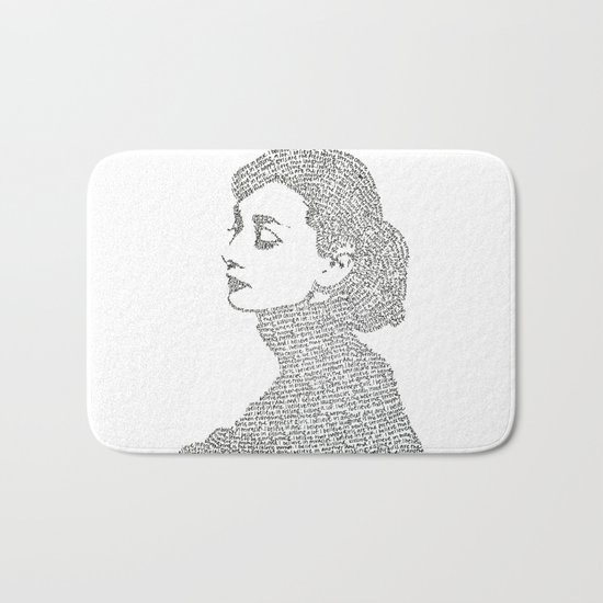 Audrey Hepburn Bath Mat