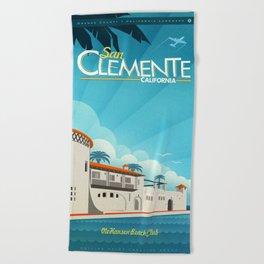 San Clemente Ole Hansen Beach Club Beach Towel