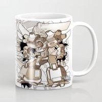 gundam Mugs featuring Gundam Style by RiskeOne opc