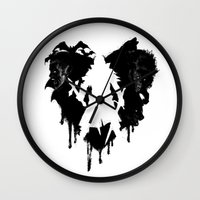 castlevania Wall Clocks featuring I LOVE Castlevania by Marcos Raya Delgado
