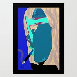Smokey Girl Art Print