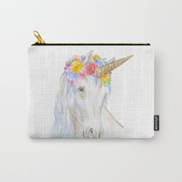 Unicorn Watercolor Painting Carry-All Pouch
