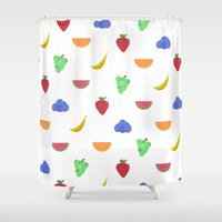 fruit Shower Curtains featuring Fruit by brittcorry