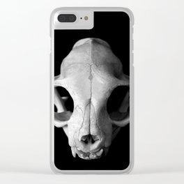 Cat Skull Clear iPhone Case