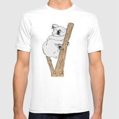 Koala Mens Fitted Tee White MEDIUM