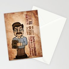 Ron Swanson 3 Stationery Cards