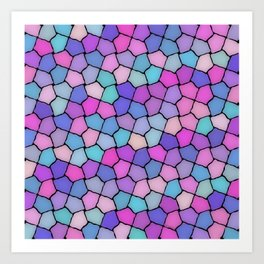 Multicolor Pattern Art Print