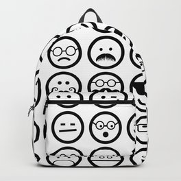 Black and White Emoticons Backpack