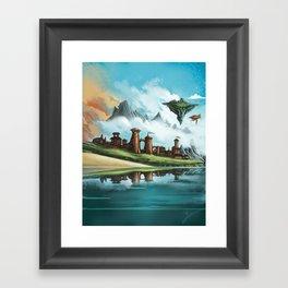 A City of Iron Framed Art Print