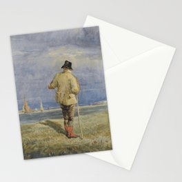 David Cox R.W.S. BIRMINGHAM 1783-1859 A FARMER NEAR THE BANKS OF AN ESTUARY Stationery Cards