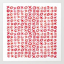 Xoxo valentine's day - red Art Print
