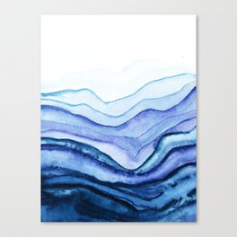 Washed Away Watercolor Canvas Print