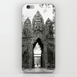 Mysterious buddhist khmer history in Cambodia iPhone Skin