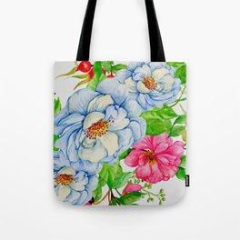 Sweet Floral Elegance Print Tote Bag