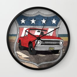 Eastern Seaboard Dusty Beach Chevy Wall Clock