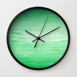 Ombre Green Stripes Wall Clock